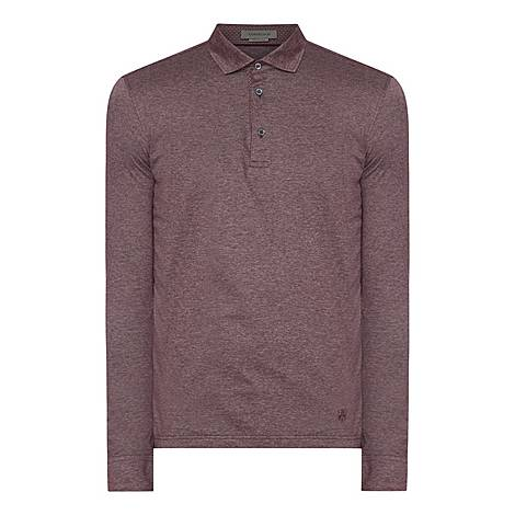 Textured Contrast Polo Shirt, ${color}