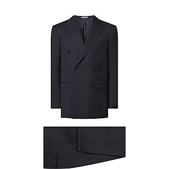 Two-Piece Double Breasted Wool Suit