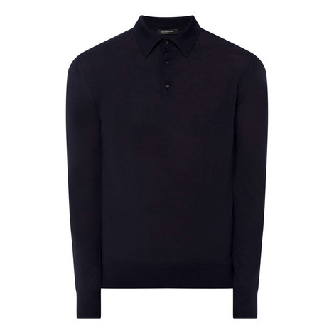 High Performance Long Sleeve Polo Shirt, ${color}