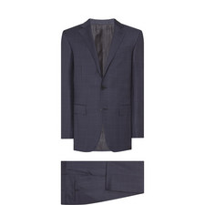 Two-Piece Tonal Check Suit