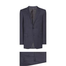 Two-Piece Tonal Check Suit