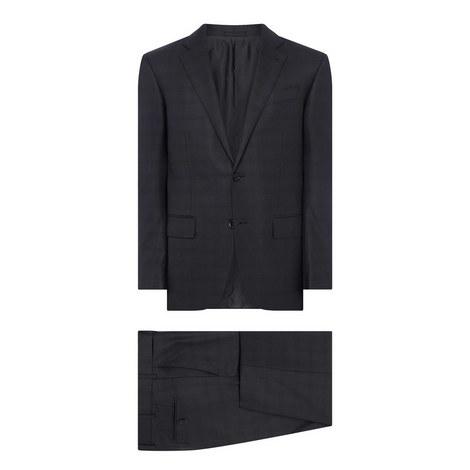 Two-Piece Tonal Check Suit , ${color}