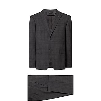 Two-Piece Check Suit