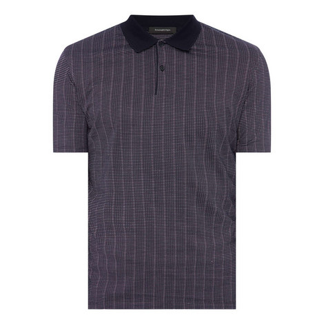 Grid Pattern Polo Shirt, ${color}