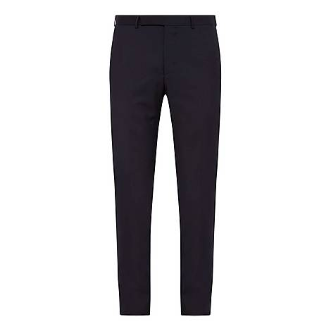Tropical Wool Slim Fit Trousers, ${color}