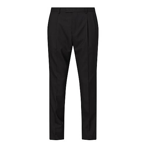Canvas Double Pleated Trousers, ${color}
