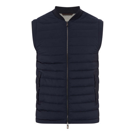 Microfiber Quilted Gilet, ${color}
