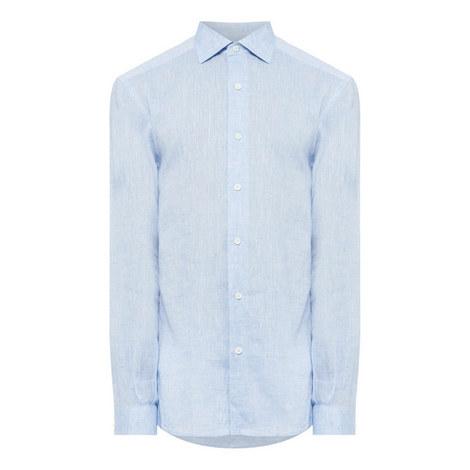 Long Sleeve Linen Shirt, ${color}