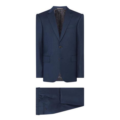 Soho Two-Piece Flannel Suit, ${color}