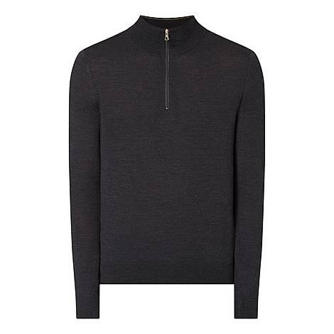 Merino Half Zip Sweater, ${color}