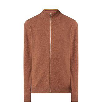 Zip-Through Cashmere Sweater