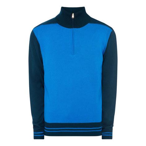 Colour Block Half-Zip Sweater, ${color}