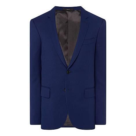 Hopsack Blazer Jacket, ${color}