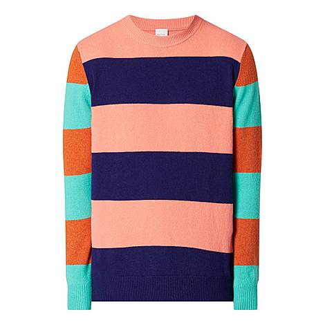 Chunky Striped Sweater, ${color}