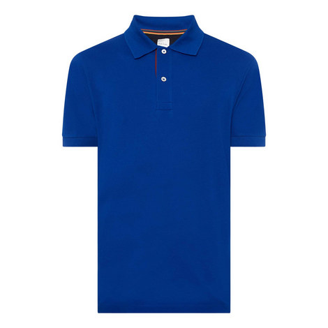 Striped Placket Polo Shirt, ${color}