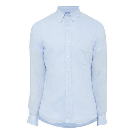 Down Linen Shirt, ${color}
