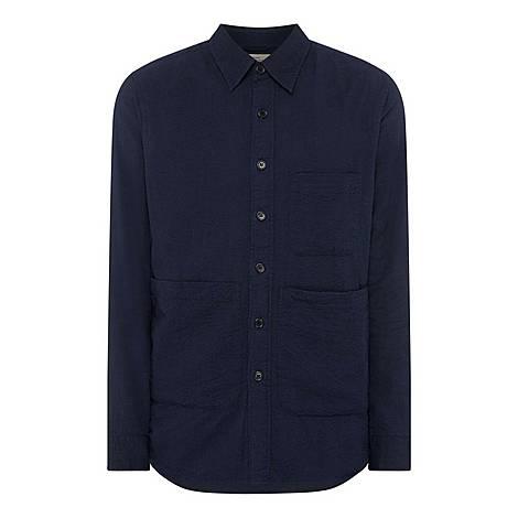 Textured Seersucker Overshirt, ${color}
