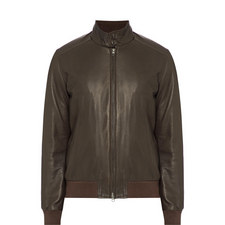 Casual Leather Bomber Jacket