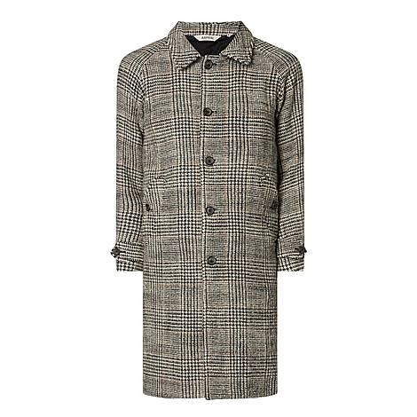Herringbone Checked Wool Overcoat, ${color}
