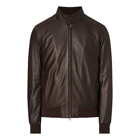 Leather Bomber Jacket, ${color}