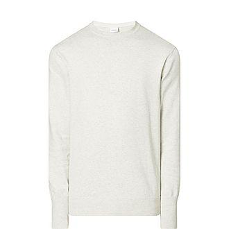 Elbow Patch Crew Neck Sweater