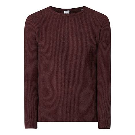Cable Knit Cashmere Wool Sweater, ${color}