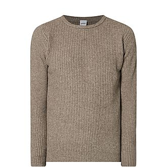 Cable Knit Cashmere Wool Sweater
