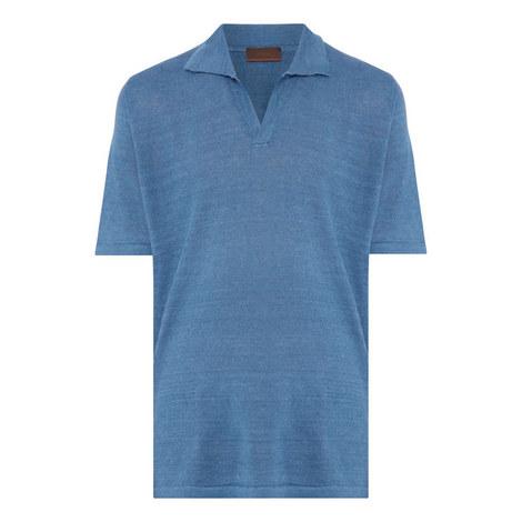 Retro Linen Polo Shirt, ${color}