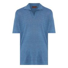 Retro Linen Polo Shirt