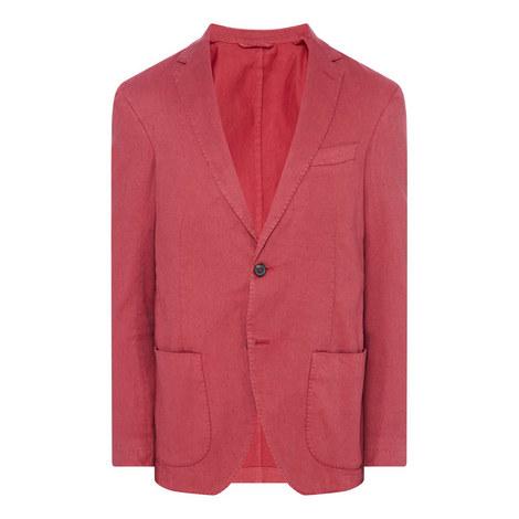 Washed Cotton Linen Jacket, ${color}