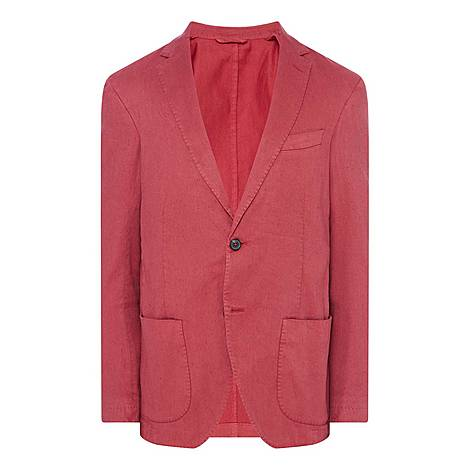 Washed Cotton Linen Jacket, ${color}