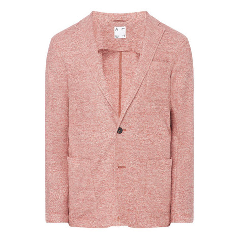 Melange Open Weave Blazer, ${color}