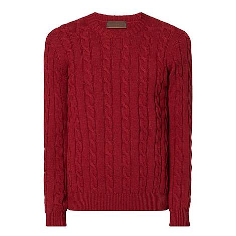 Cable Knit Cashmere Sweater, ${color}
