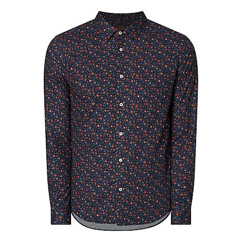 Casual Floral Shirt, ${color}
