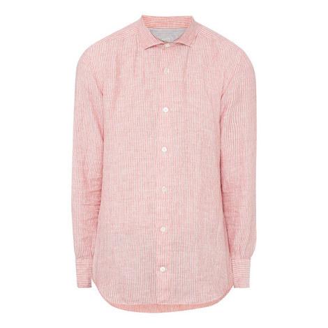 Striped Linen Shirt, ${color}