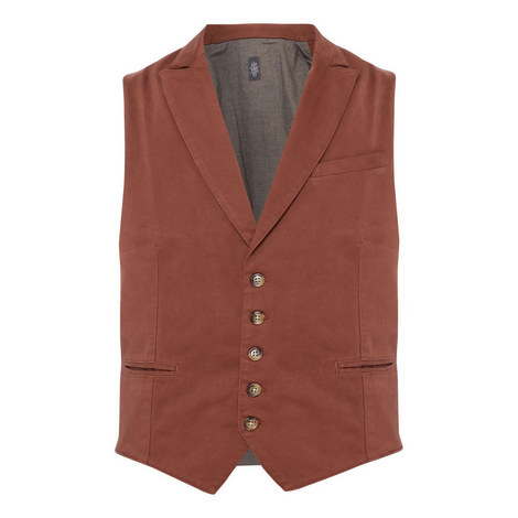 Two-Tone Buttoned Waistcoat, ${color}