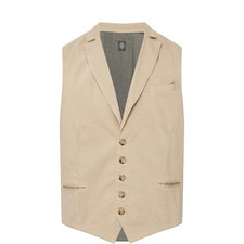 Two-Tone Buttoned Waistcoat