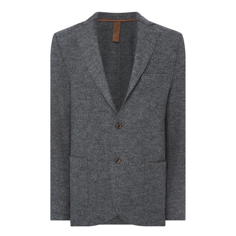 Wool Single-Breasted Blazer, ${color}