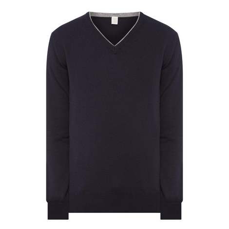 V-Neck Cashmere Sweater, ${color}