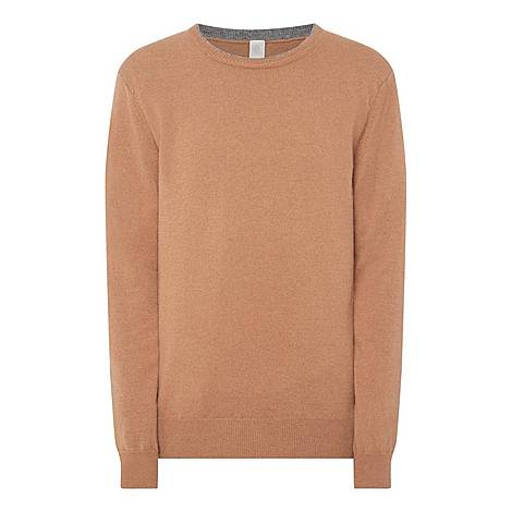 Crew Neck Cashmere Sweater, ${color}
