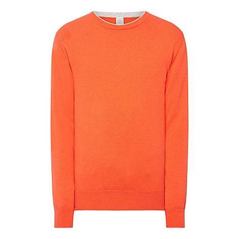 Contrast Trim Sweater, ${color}