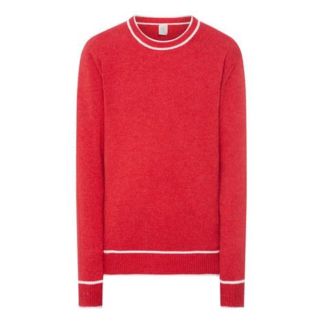Contrast Crew Neck Sweater, ${color}