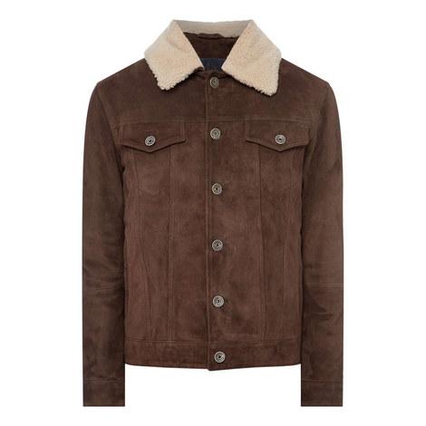 Suede Shearling Jacket, ${color}