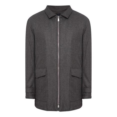Zip-Through Wool Jacket, ${color}