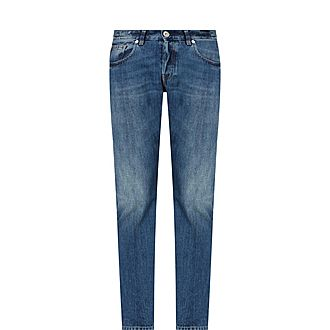 Faded Five Pocket Jeans