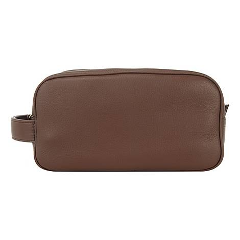 Leather Wash Bag, ${color}