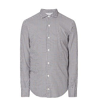 Gingham French Terry Shirt