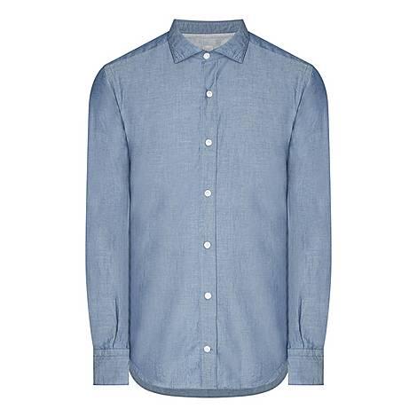 Chambray Denim Shirt, ${color}
