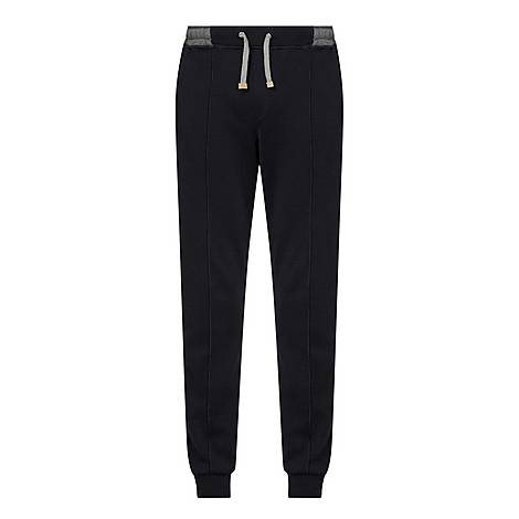 Contrasting Waistband Sweatpants, ${color}