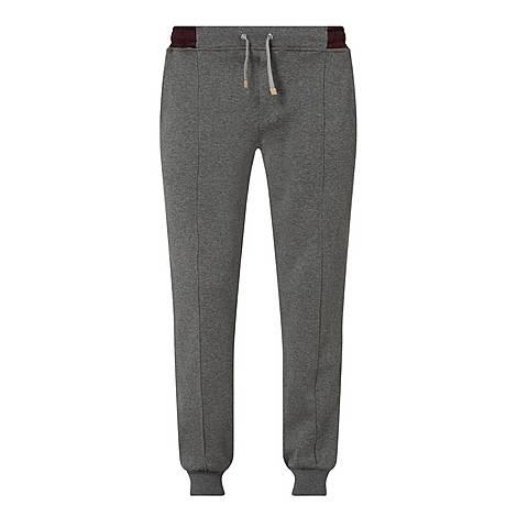 Contrast Waistband Sweatpants, ${color}